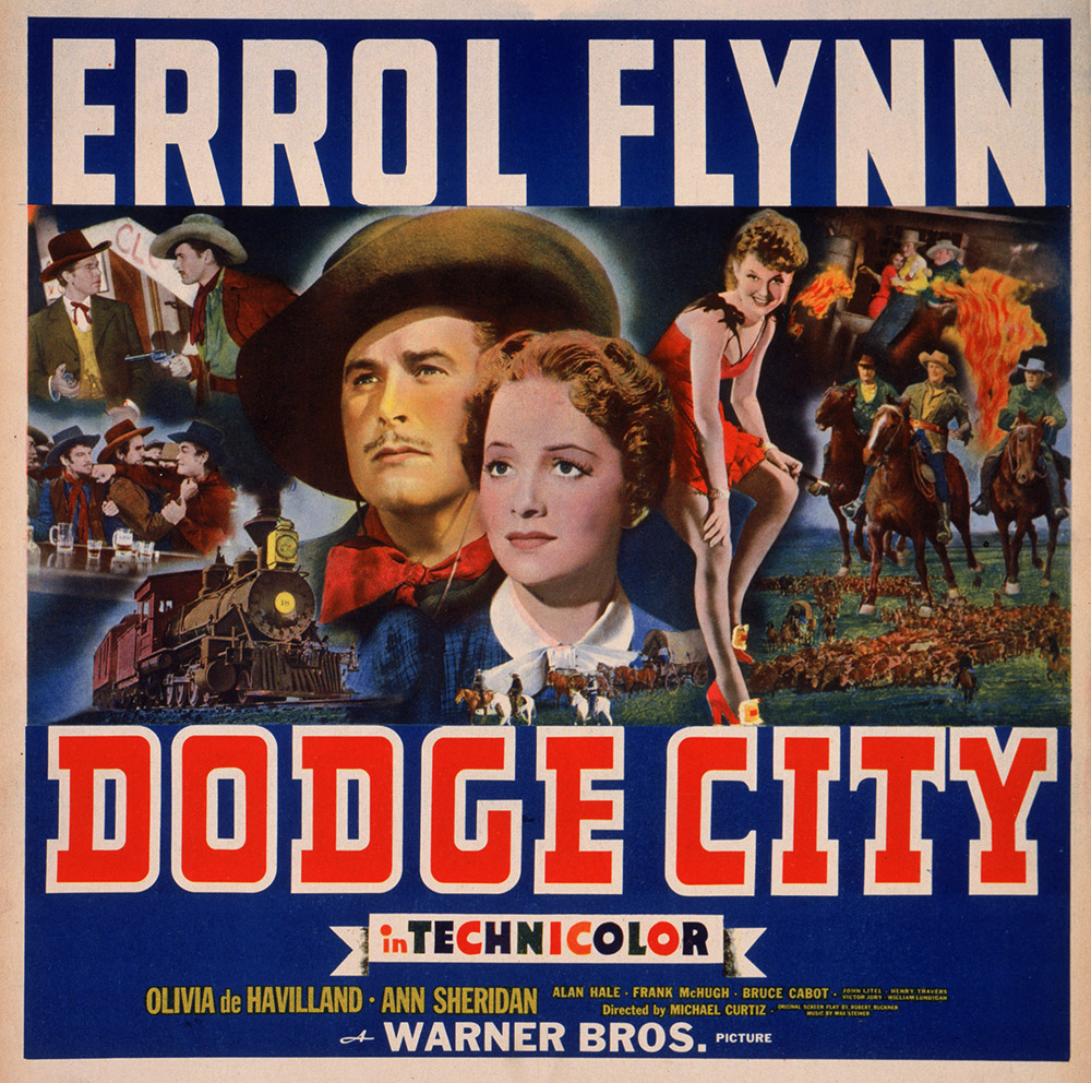 1939 Dodge City Poster