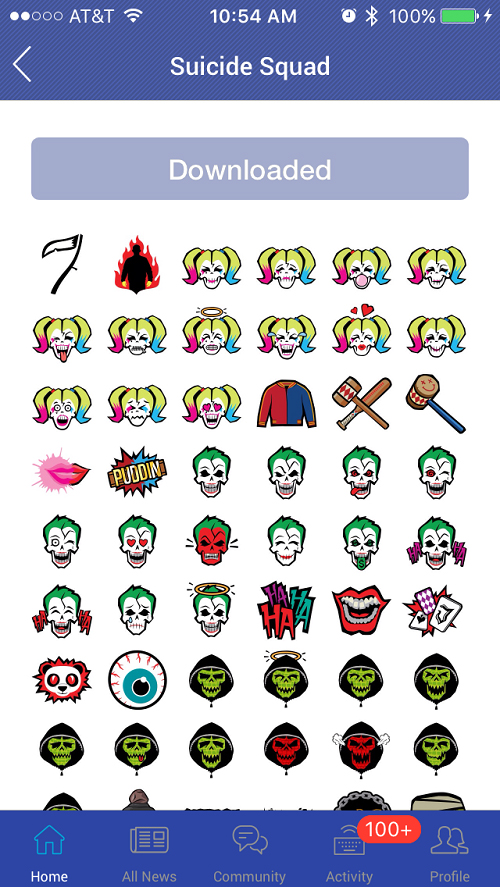 suicide squad emojis available now