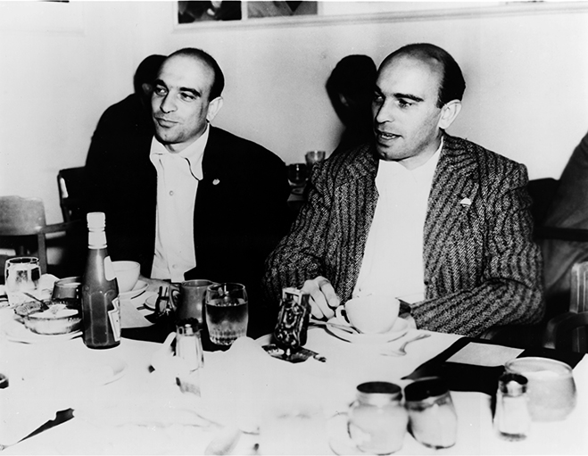 The twin-brother screenwriting team of Julius and Philip Epstein at the time of Casablanca.