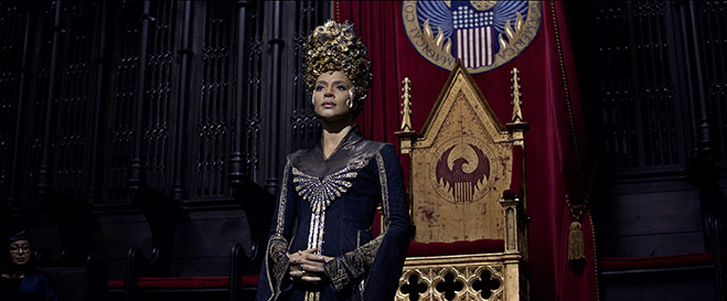 "CARMEN EJOGO as Seraphina Picquery in Warner Bros. Pictures' fantasy adventure ""FANTASTIC BEASTS AND WHERE TO FIND THEM,"" a Warner Bros. Pictures release."