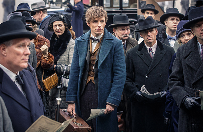 Eddie Redmayne is Newt Scamanger in J.K. Rowling's Fantastic Beasts and Where to Find Them.