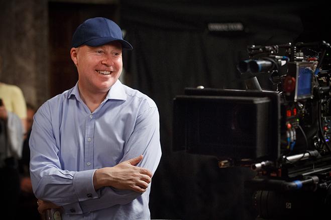 Director David Yates on the Fantastic Beasts set.