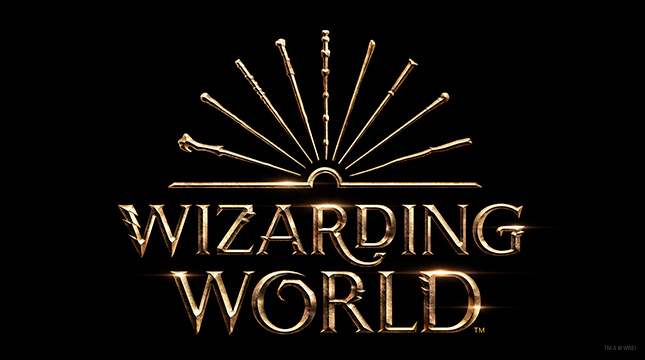 Wizarding World logo on black background