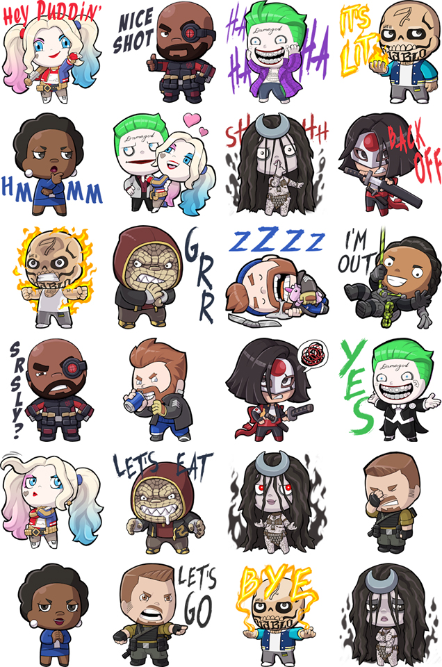 suicide squad facebook stickers available now