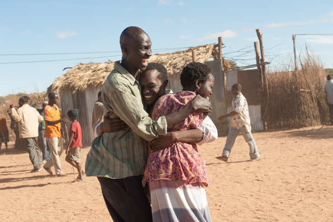 The Good Lie - people embracing and smiling