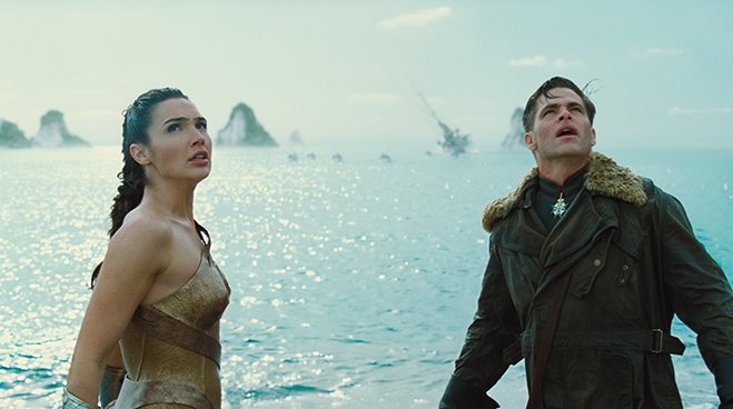 The romantic sparks fly whenever Gal Gadot and Chris Pine share scenes.