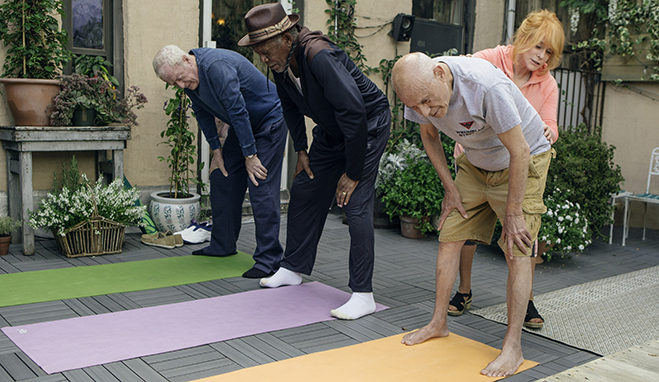 michael caine, morgan freeman and alan arkin get into shape with ann-margret