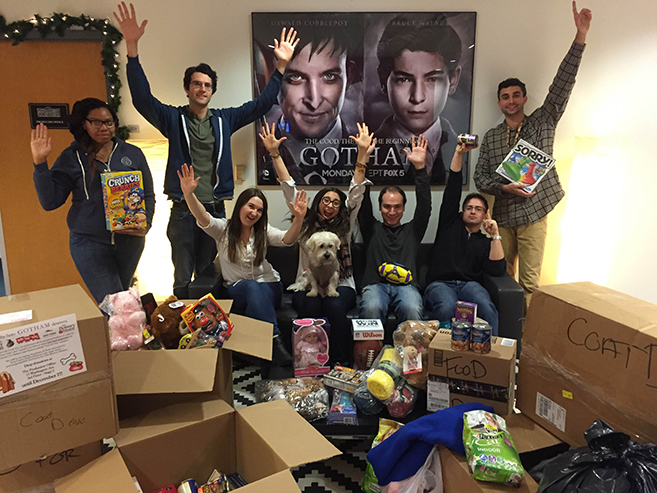 Gotham gives to charities