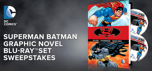 superman batman graphic novel blu-ray set sweepstakes