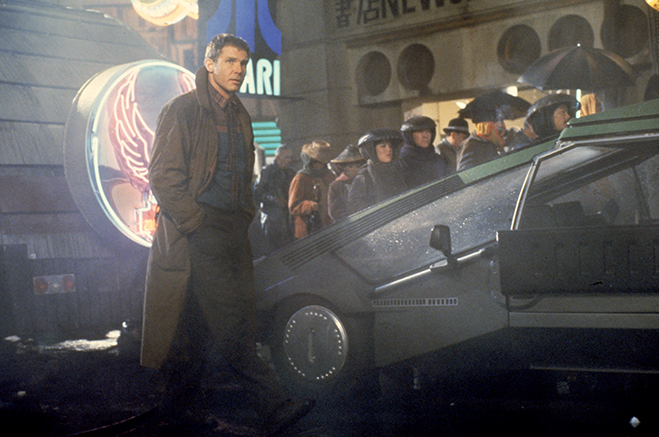 HARRISON FORD as Rick Deckard in 1982's Blade Runner, which has just been released on 4k UHD Blu-ray.