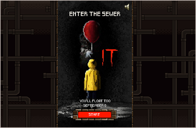 the IT enter the sewer game