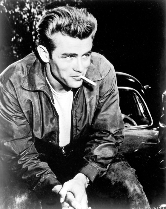 Medium shot of James Dean as Jim Stark.