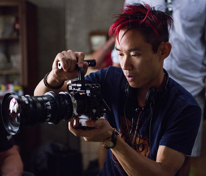 director james wan on the set of the conjuring 2, in theaters june 10