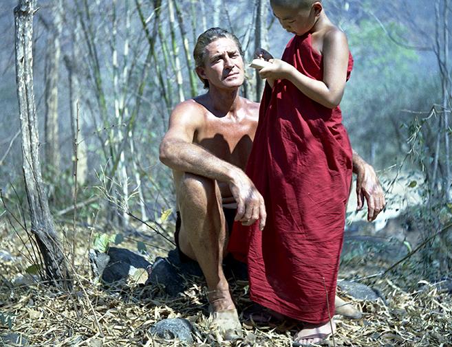 jock mahoney as tarzan and ricky der as kashi in 1963's Tarzan's Three Challenges