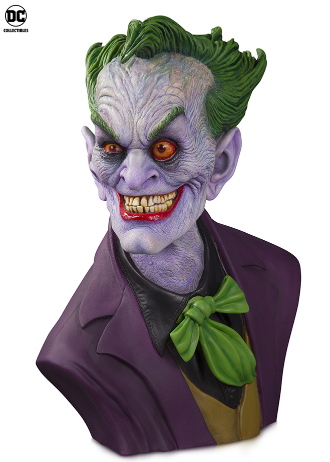 The Joker Bust designed by Hollywood's iconic special makeup effects artist Rick Baker