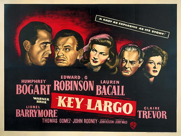 Key Largo British Quad Poster