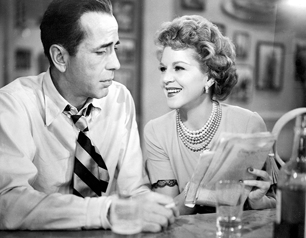 Claire Trevor, seen here with Humphrey Bogart