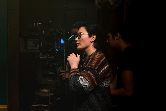 xu Zhang directing her film, Luna.
