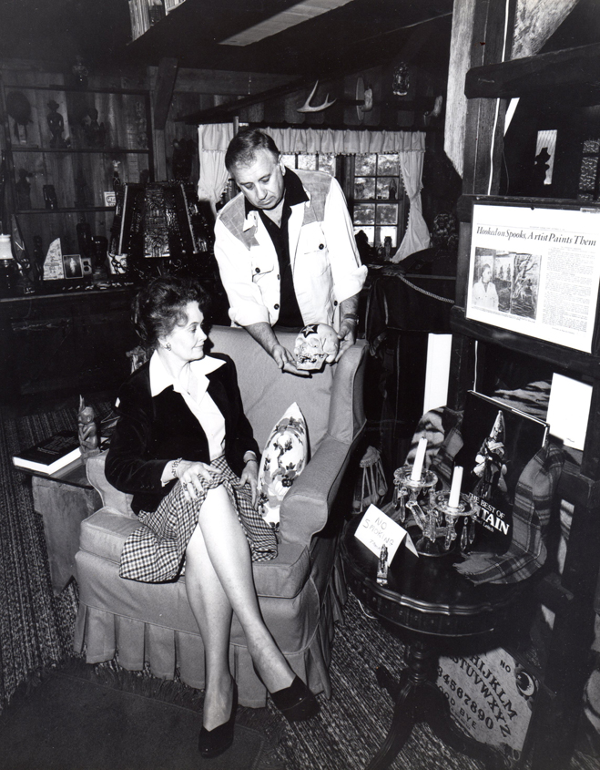 Ed and Lorraine Warren in their Connecticut occult museum
