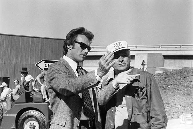 Clint Eastwood and director Ted Post behind-the scenes