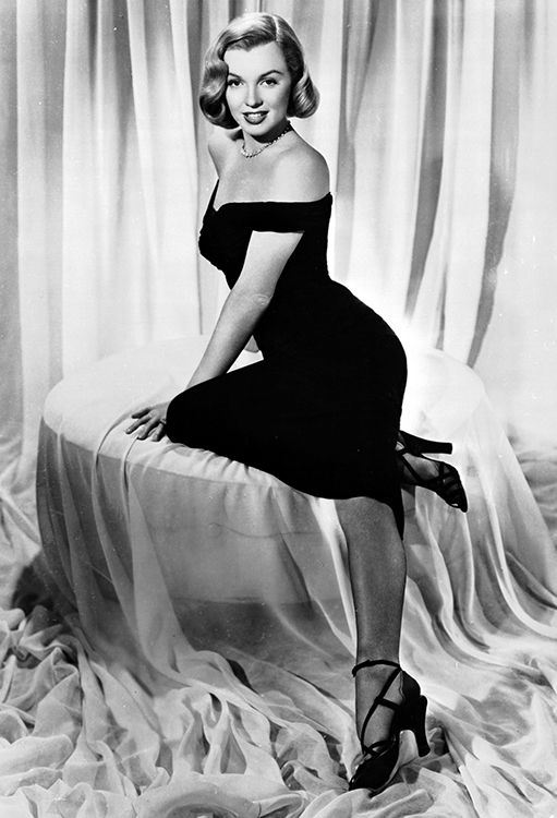 marilyn monroe in a publicity photo for 1950's the asphalt jungle