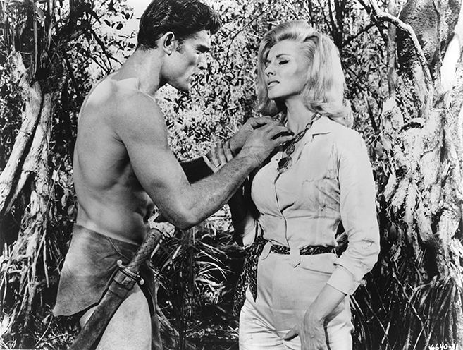 mike henry and nancy kovack in tarzan and the valley of gold