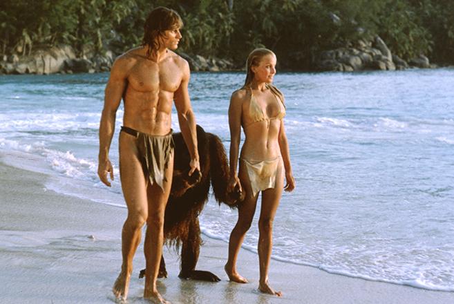 miles o'keeffe as tarzan and bo derek as jane in 1981's tarzan the ape man