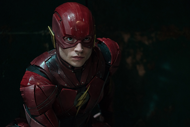 Ezra Miller is The Flash in Justice League.