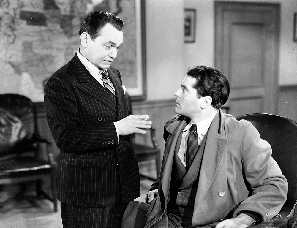 Confession of a Nazi Spy - Edward G. Robinson interrogates Francis Lederer as Kurt Schneider