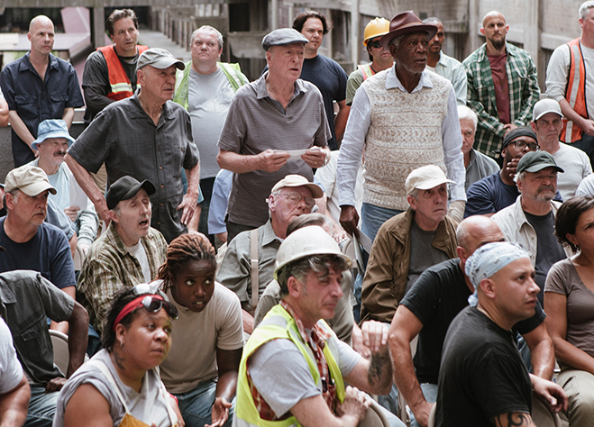 Alan Arkin, Michael Caine and Morgan Freeman star in Going in Style.