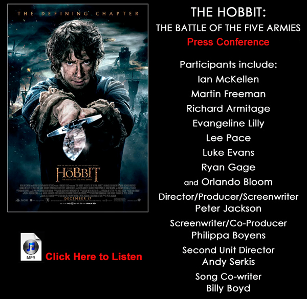 Hobbit: Battle of the Five Armies Press Conference