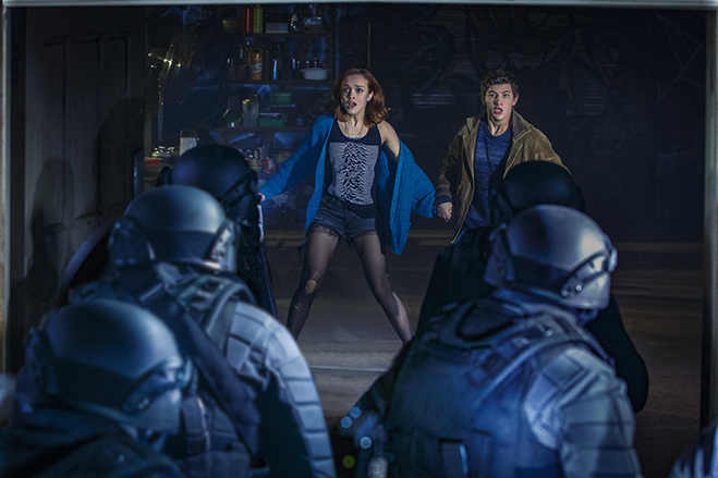 OLIVIA COOKE as Samantha and TYE SHERIDAN as Wade in Ready Player One.