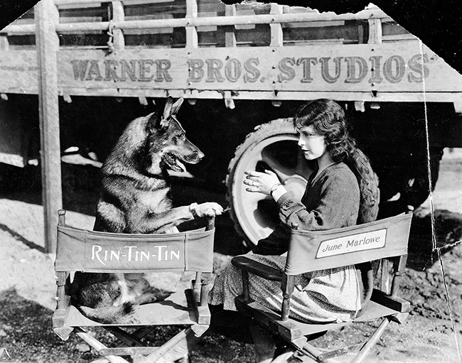 Rin Tin Tin and June Marlowe