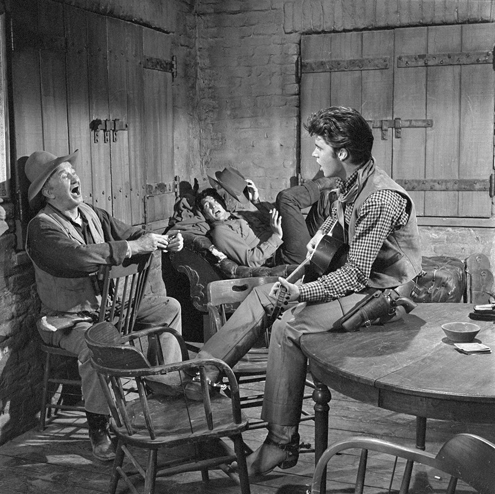 Rio Bravo Walter Brennan as Stumpy, Dean Martin, and Ricky Nelson