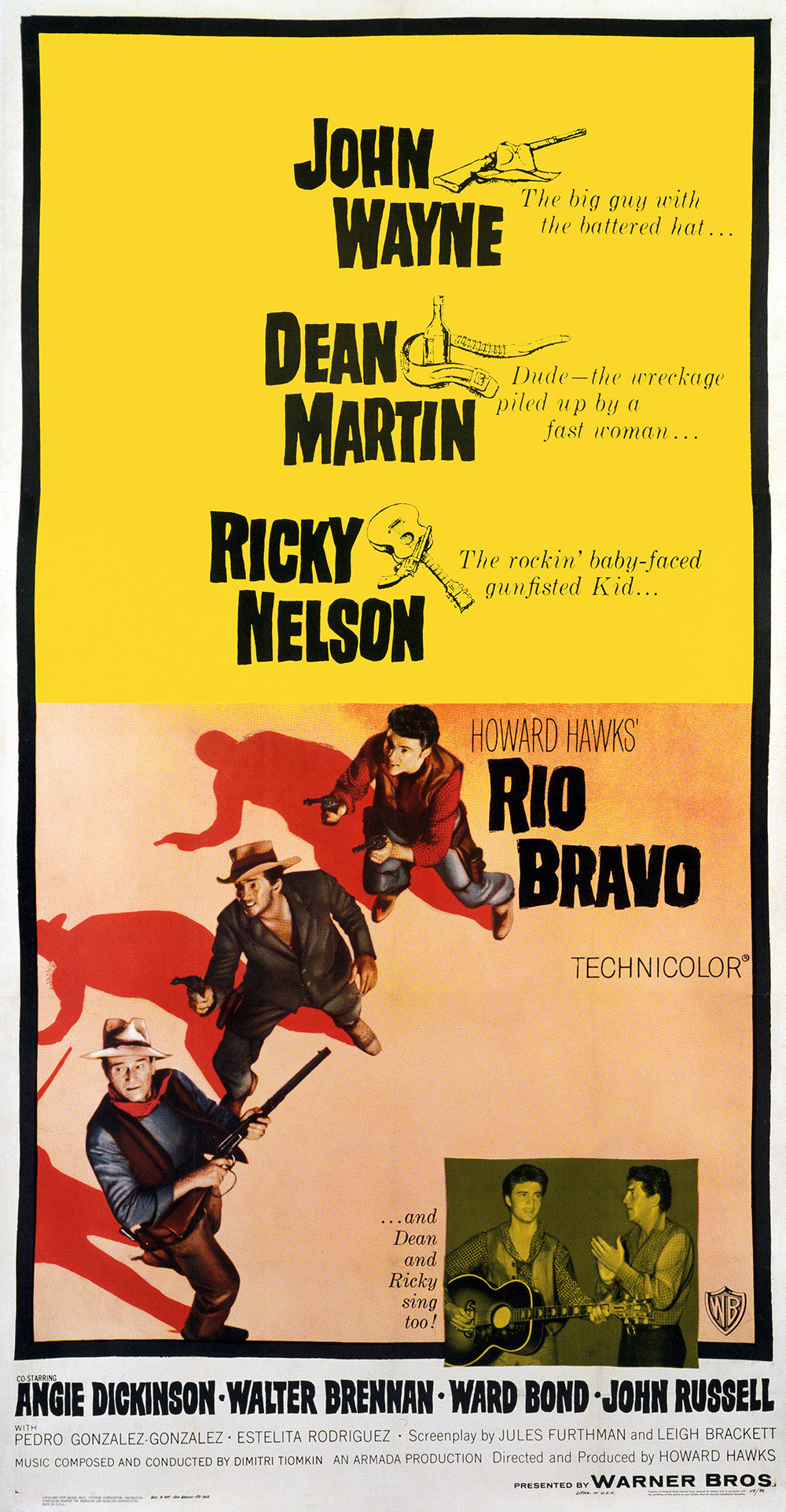 Rio Bravo original theatrical three-sheet poster