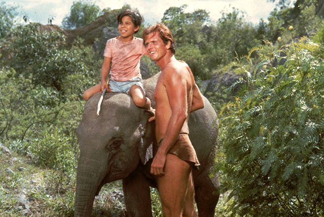 Ron Ely and young Manuel Padilla, Jr. starred in both seasons of the NBC adventure series, Tarzan, in 1966-67