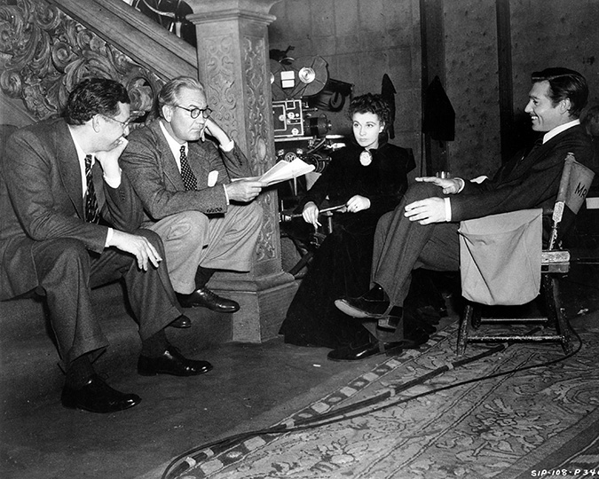 David O. Selznick, director Victor Fleming, Vivien Leigh, and Clark Gable Gone with the Wind