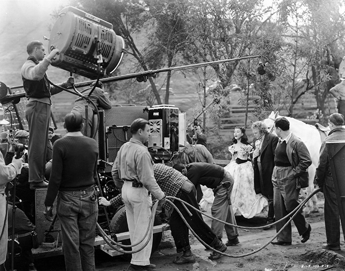 Gone with the Wind crews - Vivien Leigh, Thomas Mitchell, George Cukor, Victor Fleming