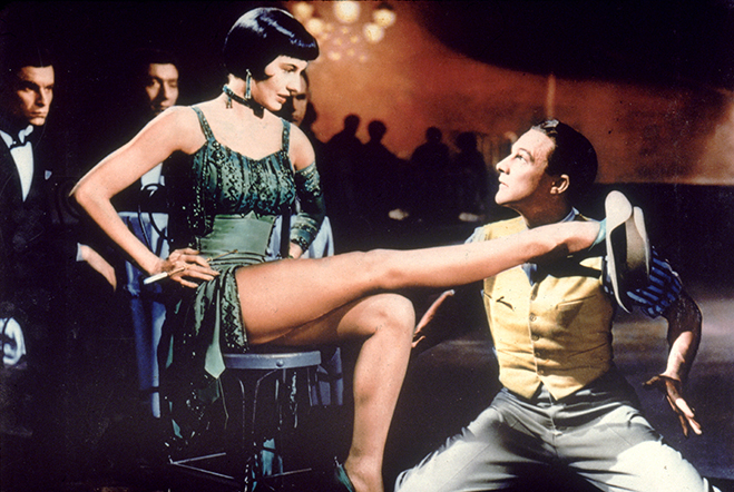 "cyd charisse and gene kelly in the memorable ""Broadway Melody"" sequence. Censors of the day forced some cuts to be made to this dance before the film could be released."