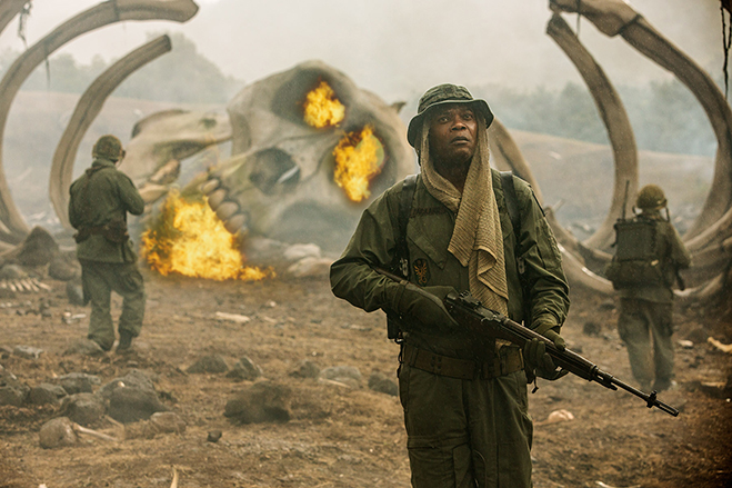 Oscar nominee and three-time Golden Globe nominee Samuel L. Jackson stars as preston packard in kong: skull island