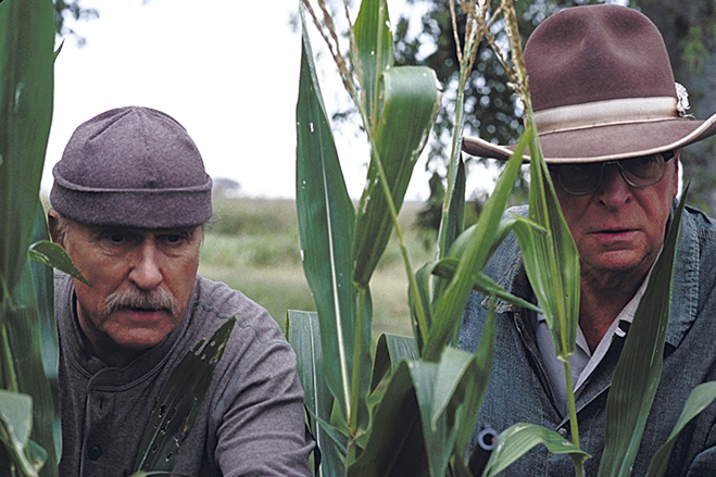 robert duvall and michael caine are the twisted brothers in the dramatic comedy, Secondhand Lions.