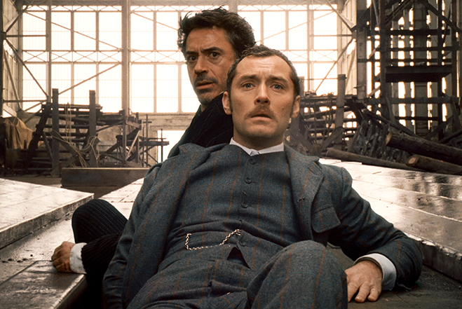 robert downey jr. and jude law star in sherlock holmes