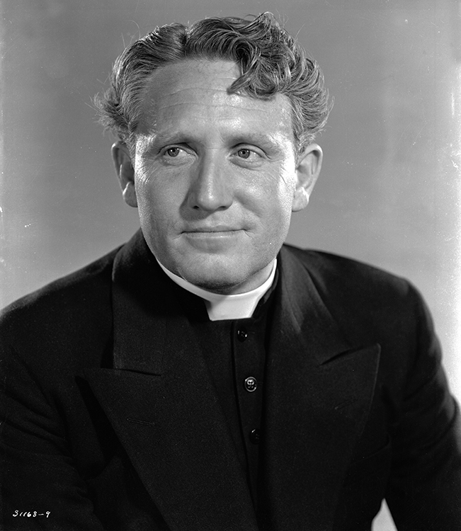spencer tracy in publicity photo for Boys Town