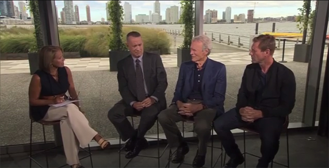 host katie couric, tom hanks, clint eastwood and aaron eckhart discuss Sully and answer your questions.
