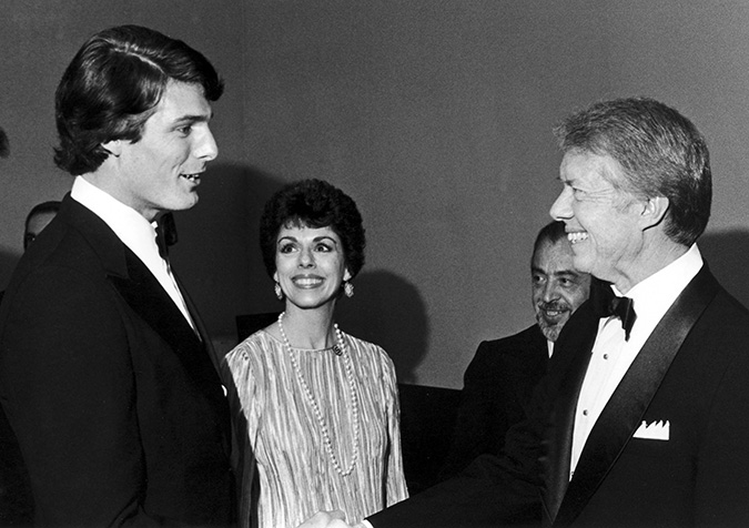 Christopher Reeve meets President Jimmy Carter