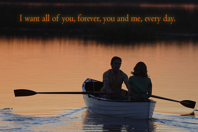 rowboat scene in the notebook