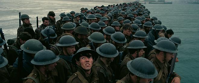 A troop scene in Dunkirk
