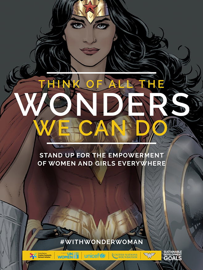 wonder woman united nations poster