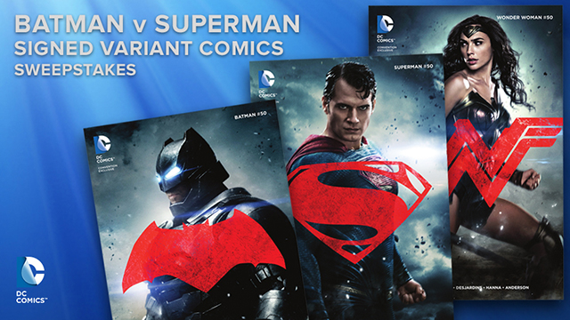 batman v superman signed variant comics sweepstakes