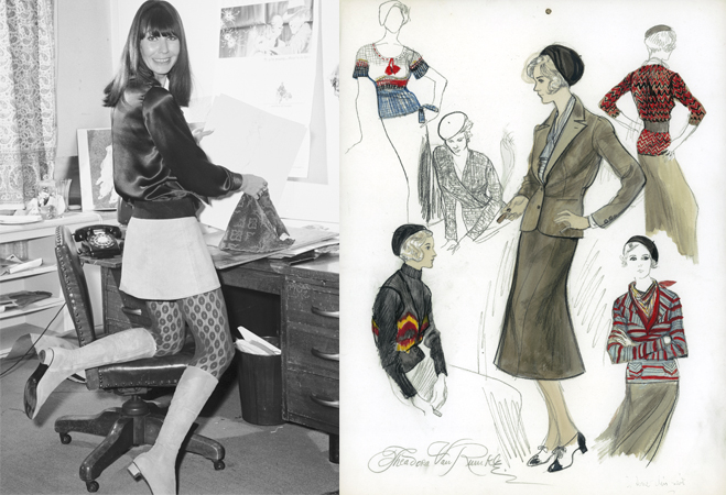Theadora Van Runkle and her famous sketches for Bonnie and Clyde.